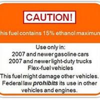 Ethanol Warning Sign